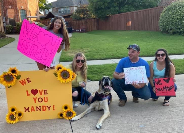 Drive-By Parade For Barn Member Battling Cancer Spreads Cheer