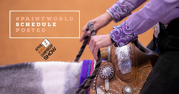 2020 APHA World Championship Show Schedule Now Posted