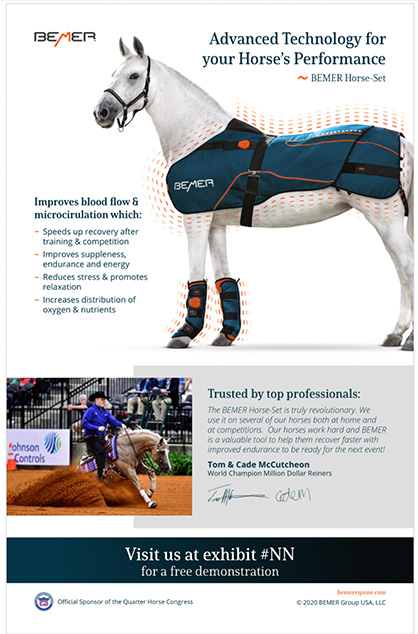 BEMER Joins All American QH Congress as Official Sponsor
