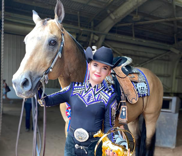 Emma Gore and Krymsun N Gold Win 13 and Under Horsemanship at 2020 AQHA YWC
