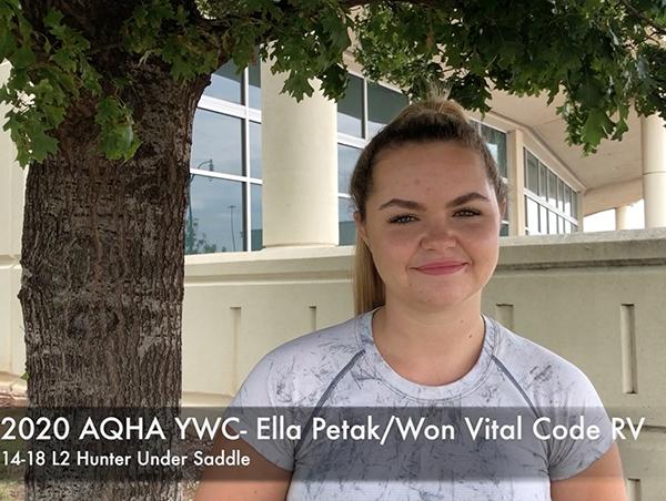 EC TV- Ella Petak- 14-18 L2 Hunter Under Saddle- AQHA YWC 2020