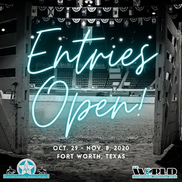 ApHC World Show Entries Open