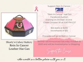 Shortys Caboy Hattery Hat Can Auction For Rein In Cancer