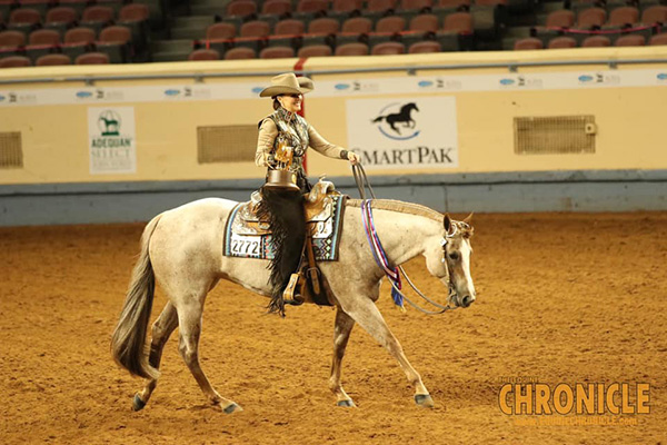 Laina Banks and Strawberri Wine Win AQHA World Select Western Riding Third Time in a Row