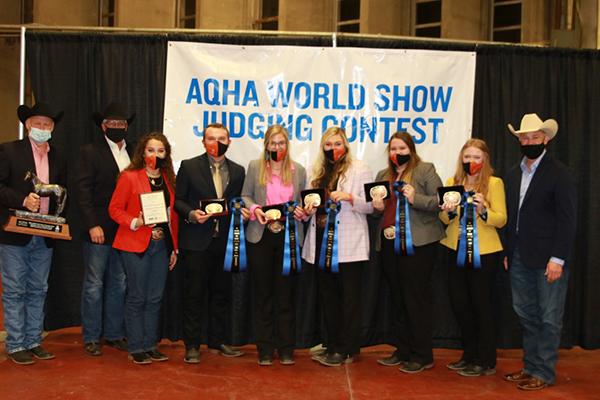 AQHA World Championship Collegiate Horse Judging Contest Results