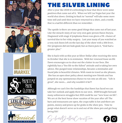 Silver Lining at the Silver Dollar- Daily Stride #4