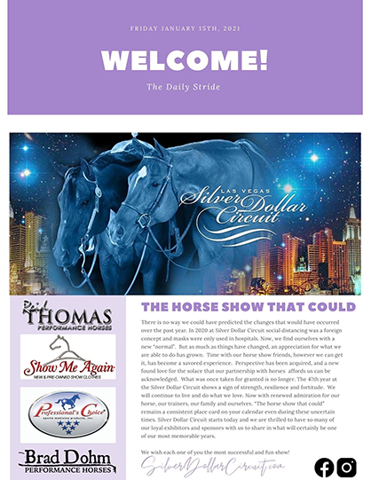 Silver Dollar Circuit- The Horse Show That Could- Daily Stride #1