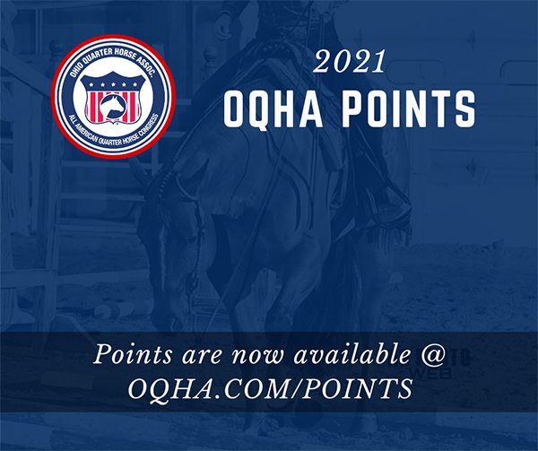 2021 OQHA Points Now Online