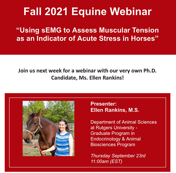 Today's Webinar- Using sEMG to Assess Muscular Tension and Indication of Acute Stress in Horses