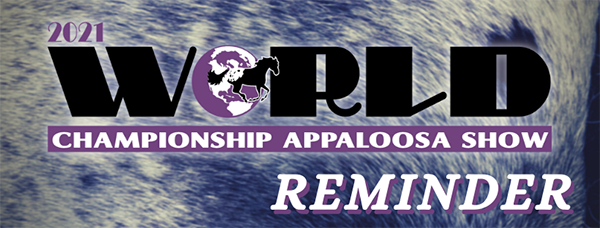 Attention ApHC Regional Clubs and World Show Participants