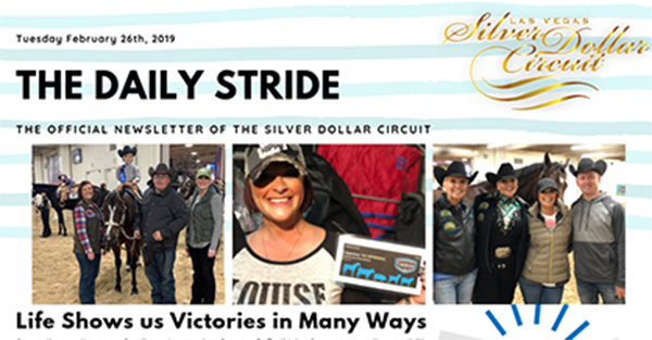 Silver Dollar Circuit- Daily Stride- Life Shows us Victories in Many Ways