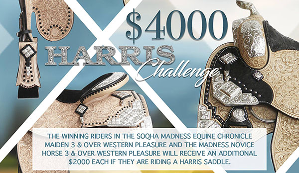 $4,000 Harris Challenge in SOQHA Madness Equine Chronicle Maiden and Novice Horse WP
