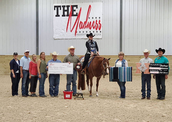 Zuidema and Knockin It Out Win Equine Chronicle Novice Horse WP at SOQHA Madness