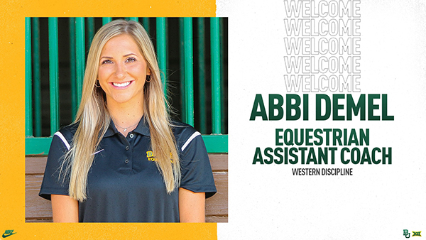 Baylor Equestrian Welcomes AQHA World Champion, Abbi Demel, as Assistant Coach