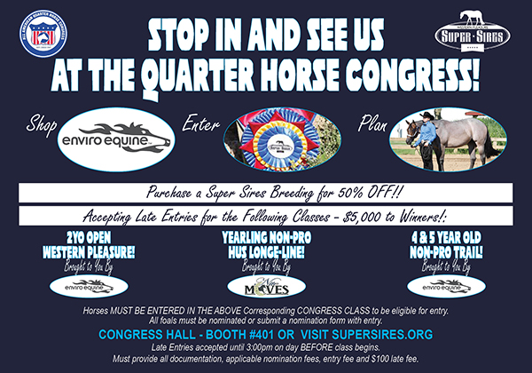 Stop and See Super Sires at QH Congress!