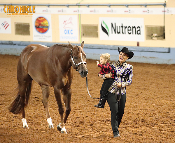 Angela Fox and HP The Rusty Fox Win Amateur All Around at AQHA World For Second Year in a Row