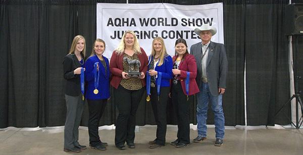 AQHA World Show Collegiate Judging Contest Results
