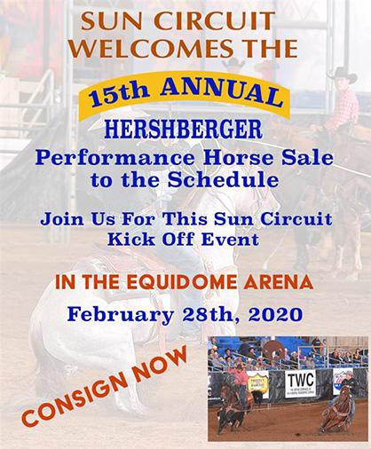 Arizona Sun Circuit Announces Addition of Hershberger Performance Sale