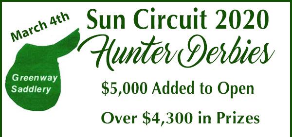 AZ Sun Circuit- Hunter Derby Clarification