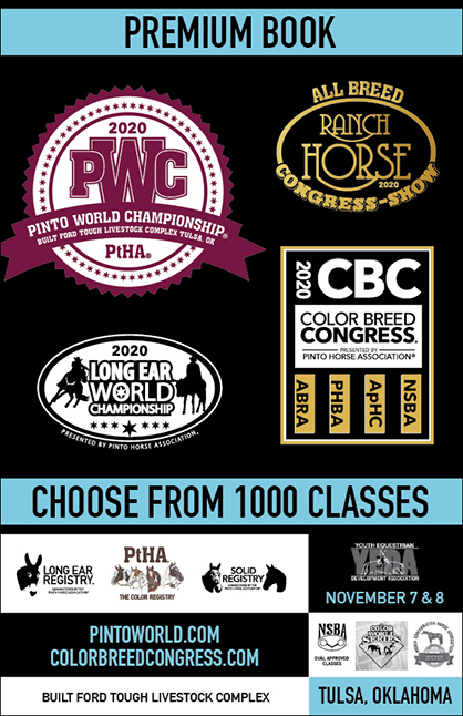 PtHA World Show/Color Breed Congress Premium Book Now Online