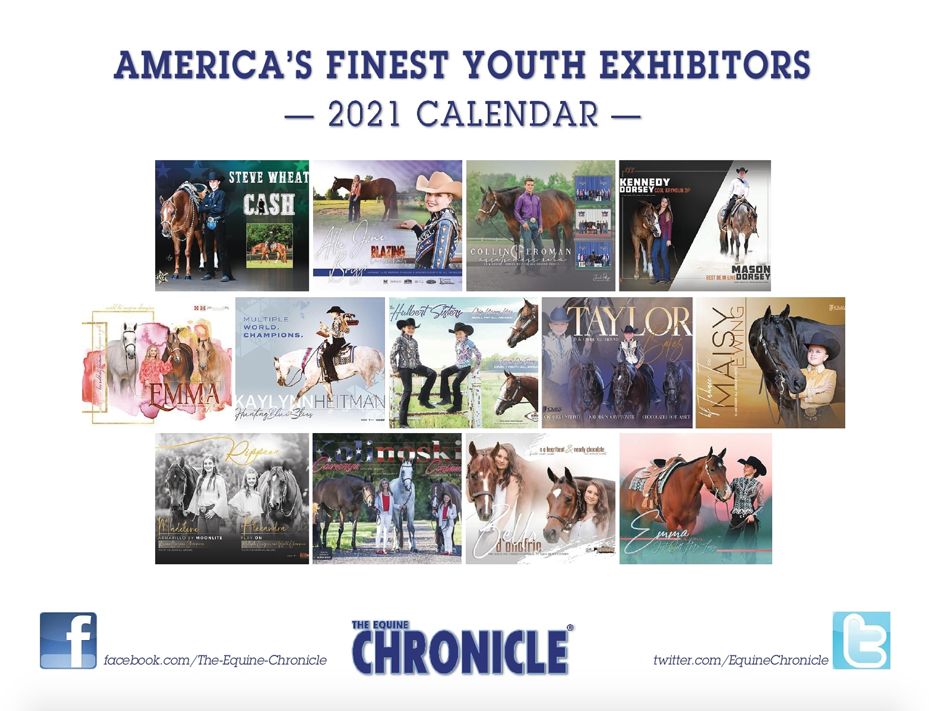 America's Finest Youth Exhibitors 2021 Calendar