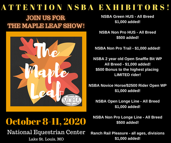 Maple Leaf Show to Offer NSBA Added Money Classes