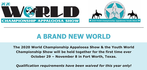Entries Now Open For Appaloosa World Show