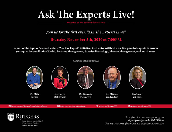 Ask the Equine Experts LIVE, Tonight