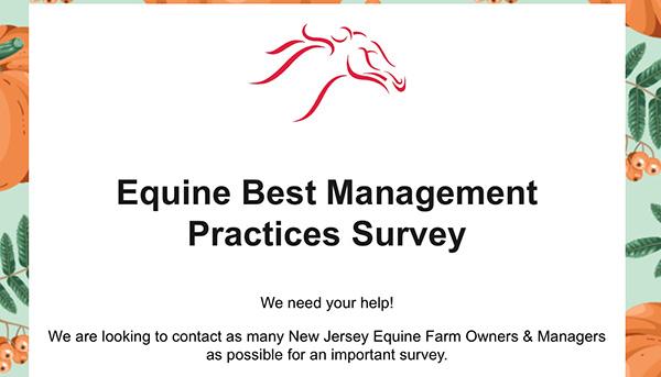 Equine Best Management Practices Survey
