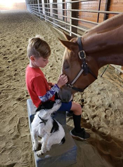 EC Photo of the Day- a Boy, a Dog, and a Horse
