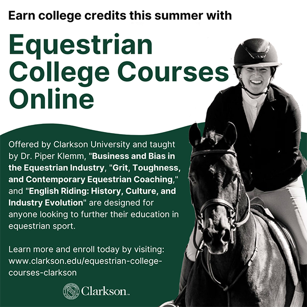 Equestrian College Courses Online- Business and Bias, Grit and Toughness, and English Riding