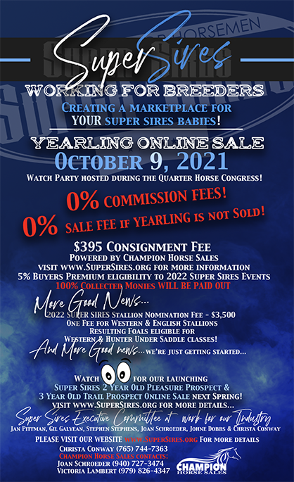 Super Sires Yearling Online Sale- Oct. 9th