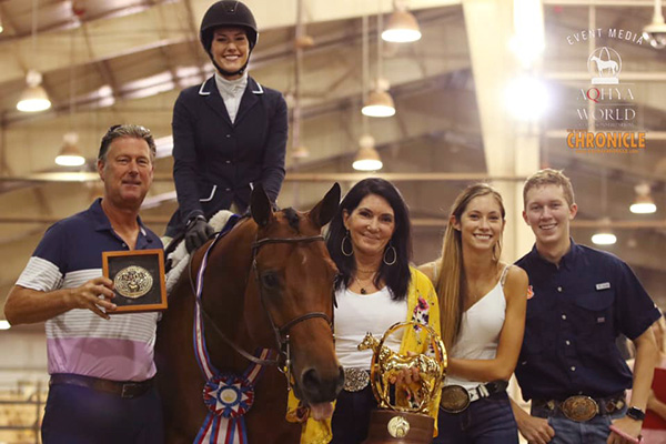 Alexia Tordoff and Abigail Cole Win 14-18 Hunter Under Saddle at AQHA Youth World