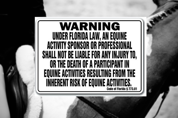 WARNING: Just Posting a Sign Will Not Protect Your Horse Business