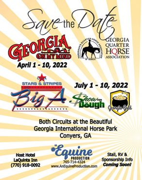 Save the Date- 2022 Georgia On My Mind, Big A and Stars N Stripes, Show For Dough